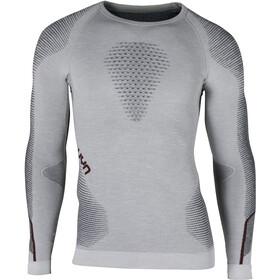 UYN Ambityon Melange UW LS Shirt Men white melange/avio/bordeaux